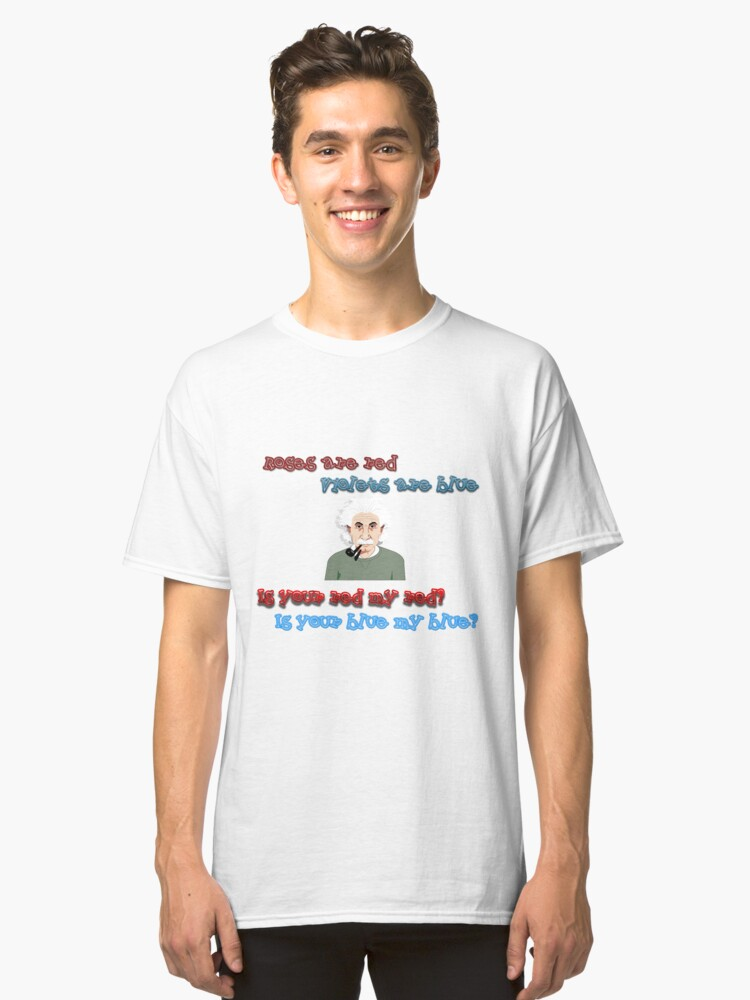 Color dilemma einstein Classic T-Shirt Front