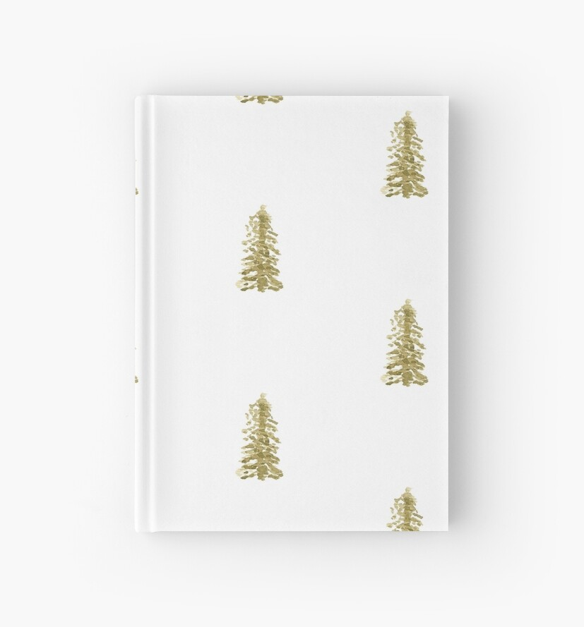 Pine Tree Notebook and Journal by Brookelle Hunter