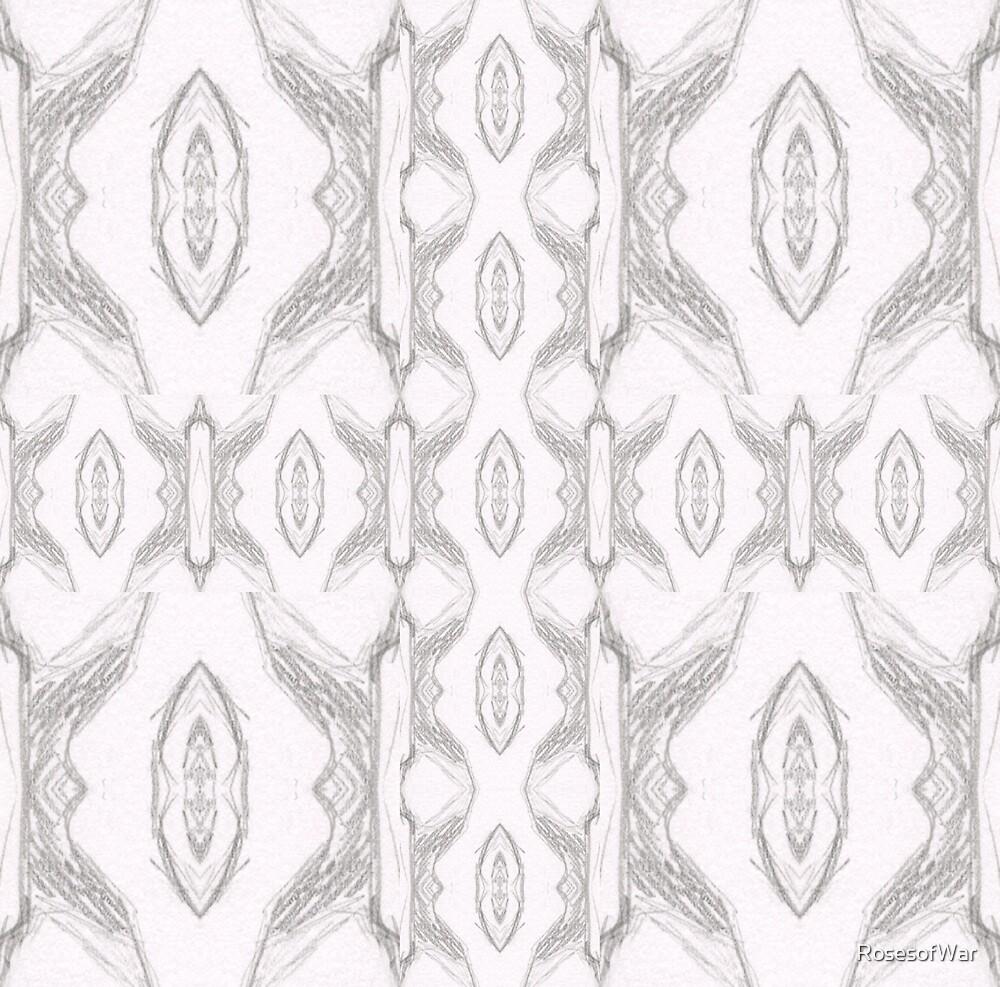 Smoke Gray Winged Oval Pattern by RosesofWar