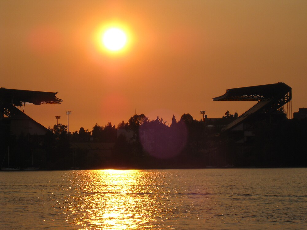 HUSKY STADIUM SUNSET by MsLiz