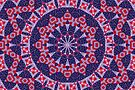 Red and Blue Patriotic Mandala by JanusianGallery