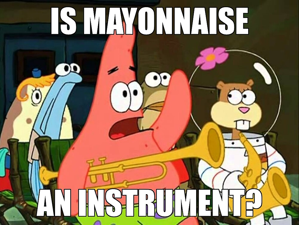 is mayonnaise and instrument large by richterr