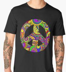 Psychedelic Rainbow Paisley Art  Men's Premium T-Shirt