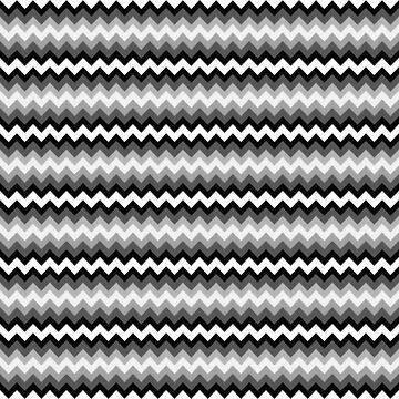 Chevron 3 colors, black white gray zigzag by kassandry31