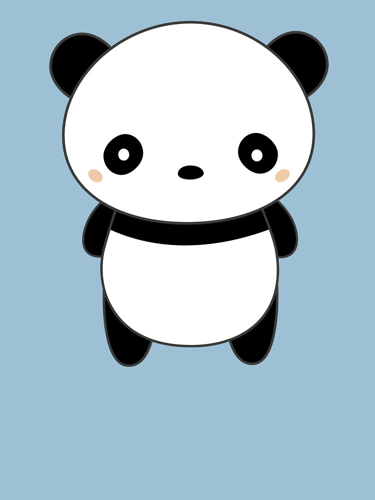 Kawaii Cute Panda T-Shirt by happinessinatee