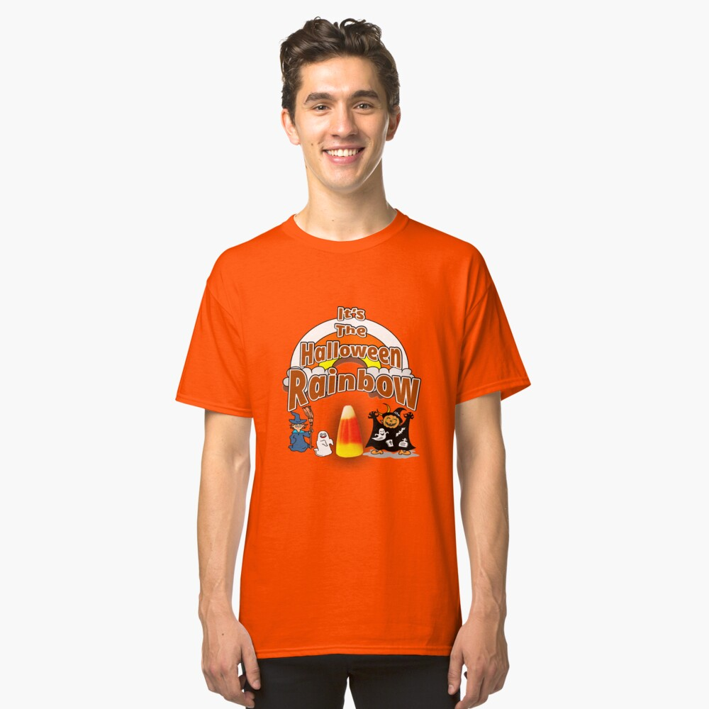 It's The Halloween Rainbow Classic T-Shirt Front