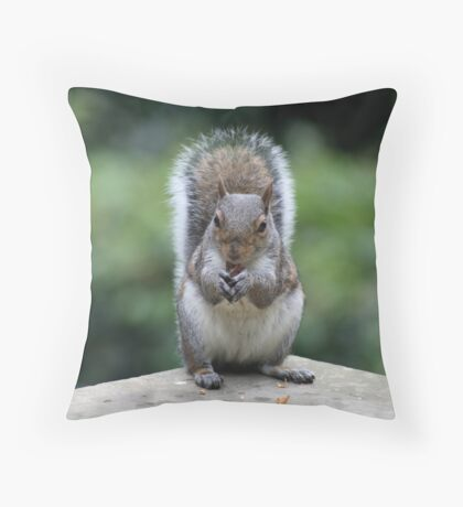 Squirrel's Lunch time! Throw Pillow