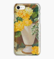 Golden Dahlias Oil Paintng iPhone Case/Skin