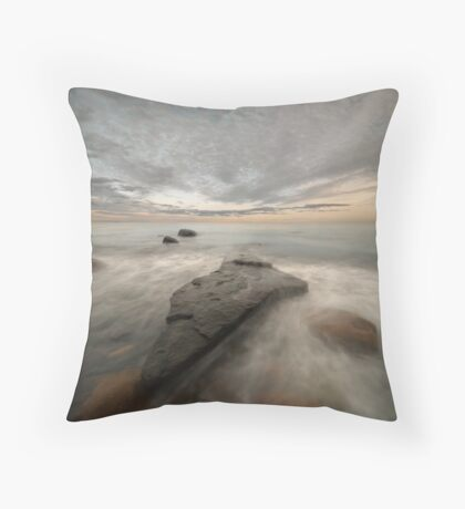 black rock sunset Throw Pillow