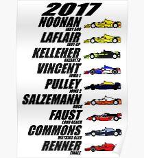 2017 Brickel's IndyCar Winners Poster