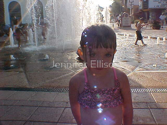 The kids at the fountain by Jennifer Ellison
