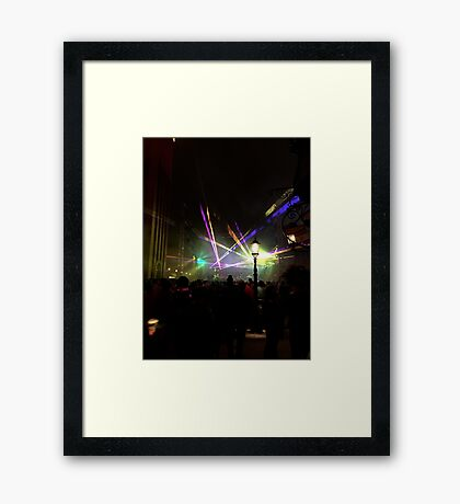 Laser in the New Year Framed Print