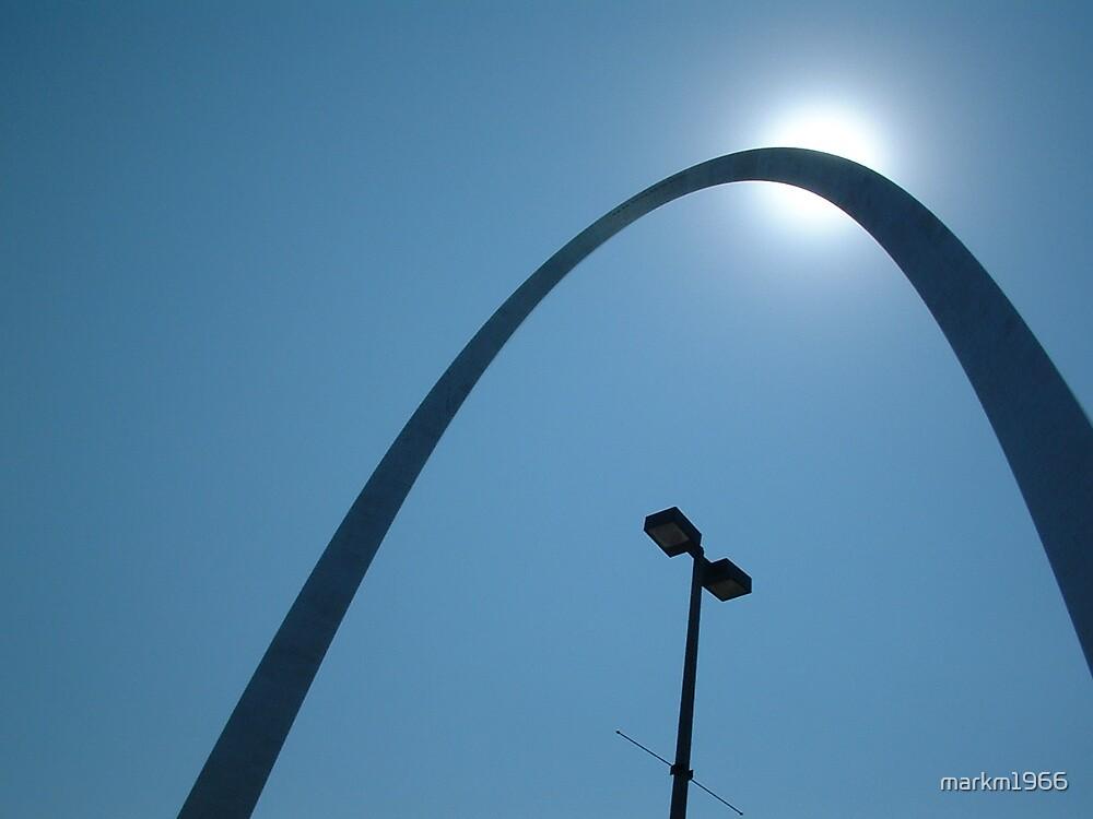 Gateway Arch in setting sun! by markm1966