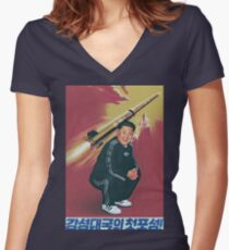 Tracksuit Rocket Man Women's Fitted V-Neck T-Shirt