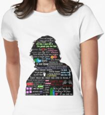 Harry Styles lyric compilation Women's Fitted T-Shirt