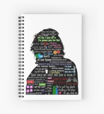 Harry Styles lyric compilation Spiral Notebook