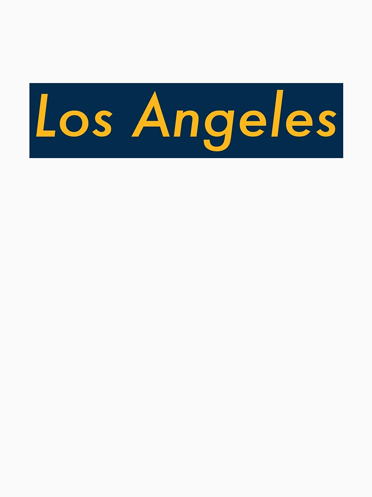 Supremely Los Angeles (Blue & Yellow) by MusashinoSports