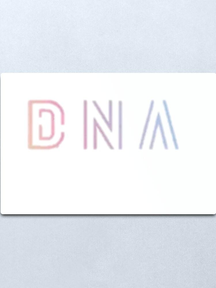 Alternate view of BTS DNA Logo Metal Print