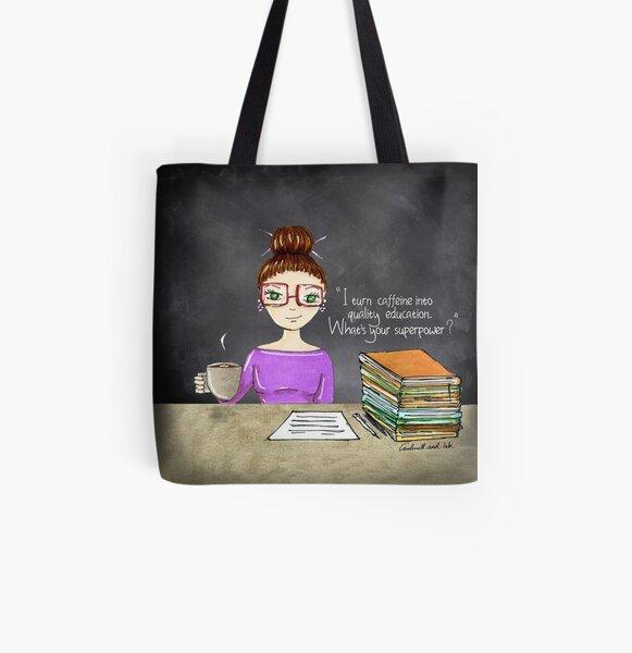 Teacher coffee 8 All Over Print Tote Bag