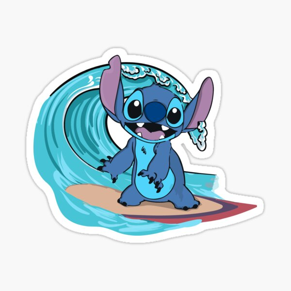 Lilo & Stitch : Stitch's Surf Up | Phone Case | T-Shirts(etc.) Sticker