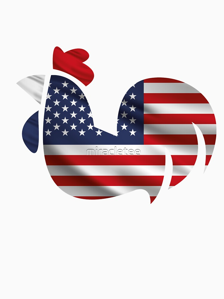 American Flag Chicken Funny Pet Lover Gifts by miracletee