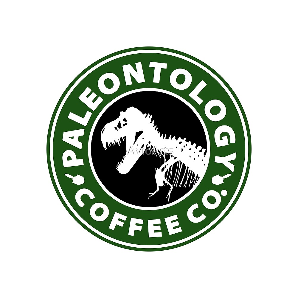 Paleontology Coffee Co (T-Rex Skeleton) by AvioArts
