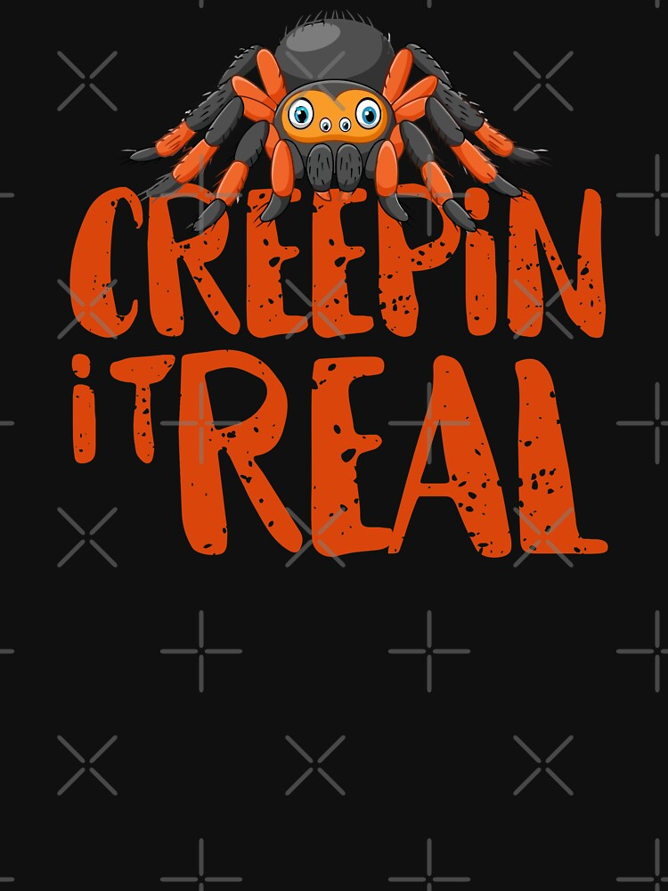 Creepin it Real Halloween Scary Spider Costume T-Shirt by shoptshirtswag