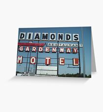 DIAMONDS MOTEL Greeting Card
