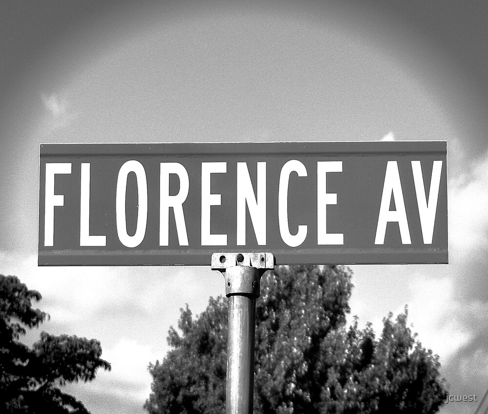 A Street Sign Named Florence by jcwest