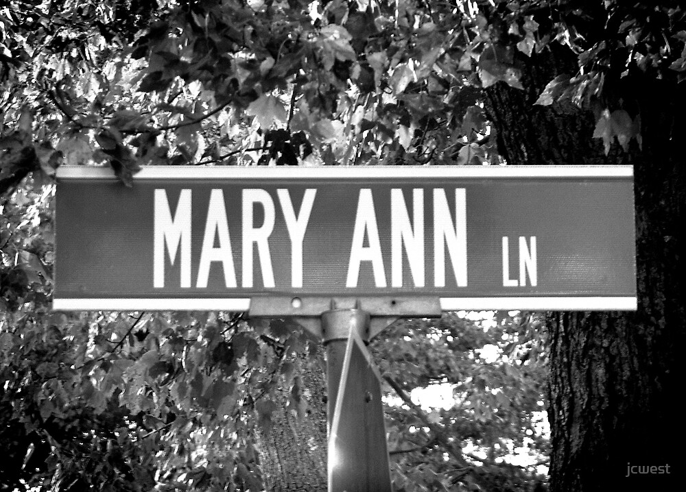 A Street Sign Named Mary Ann by jcwest