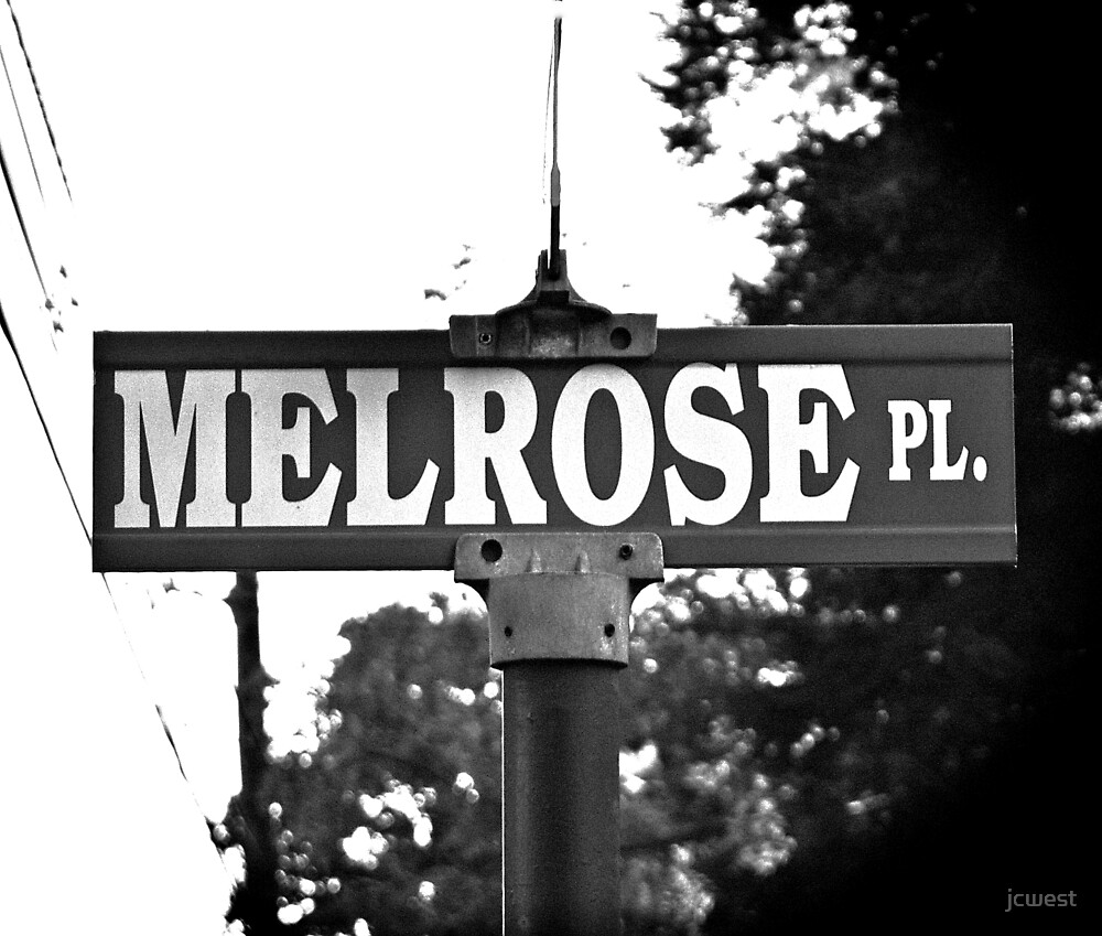 A Street Sign for Those Who Remember Melrose Place by jcwest
