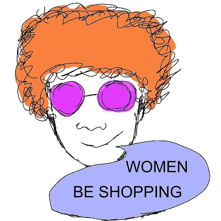 Women Be Shopping- Kyler Print by Cam-C