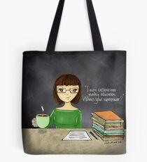 Teacher coffee 16 Tote Bag
