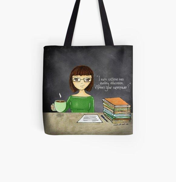 Teacher coffee 16 All Over Print Tote Bag