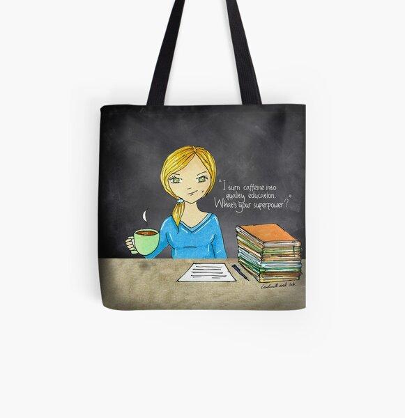 Teacher coffee 14 All Over Print Tote Bag