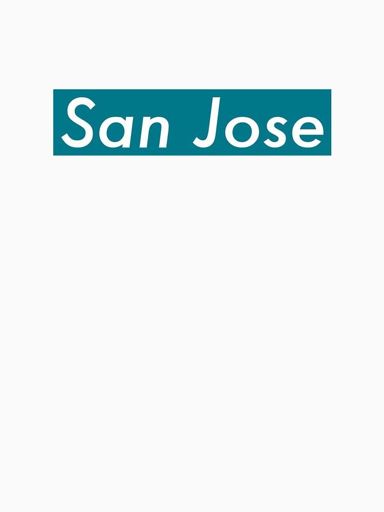 Supremely San Jose (Teal) by MusashinoSports