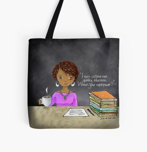 Teacher coffee 13 All Over Print Tote Bag