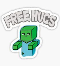 "Minecraft Zombie | ""Free Hugs"" Sticker"