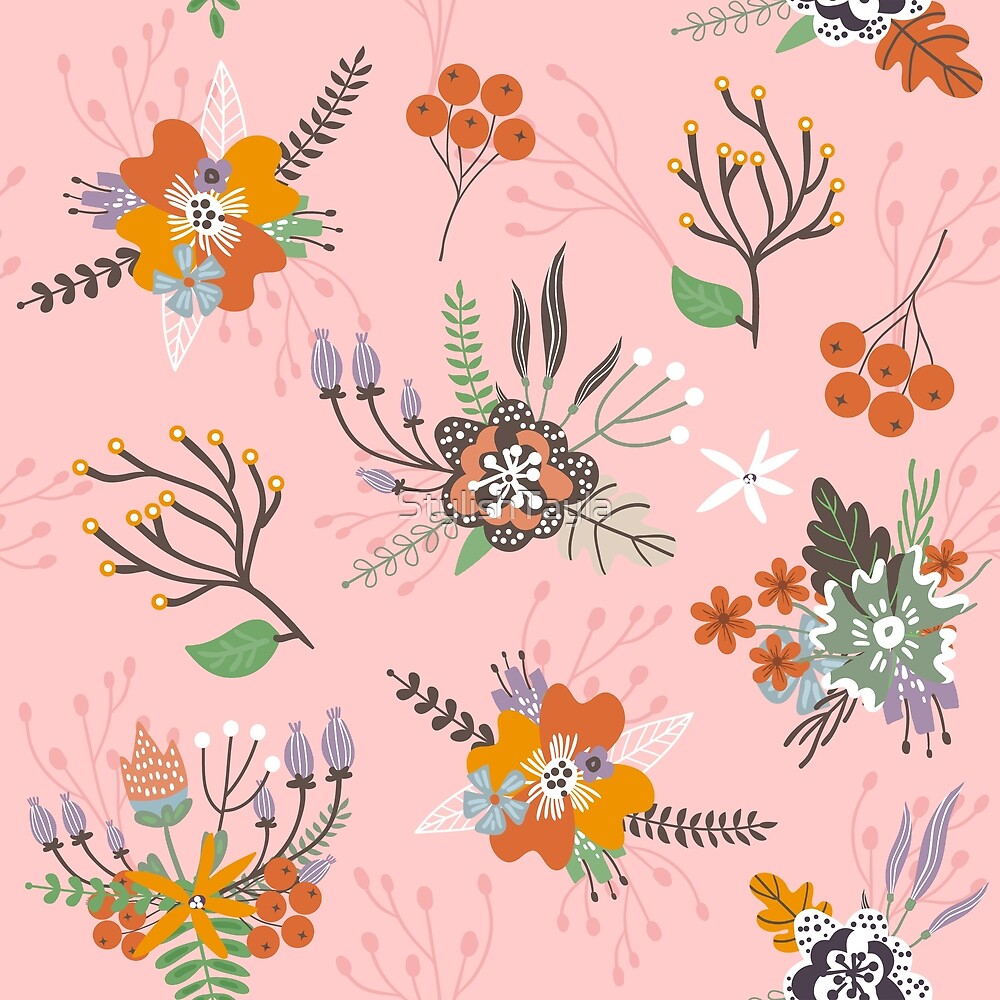Floral Pattern Design- Peach by Tayla Williams