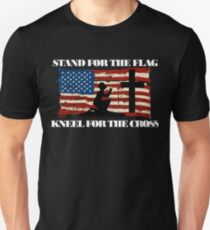 Stand for the Flag, Kneel for the Cross Unisex T-Shirt