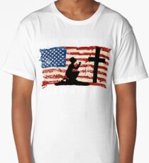 Stand for the Flag, Kneel for the Cross Long T-Shirt