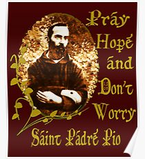 St Padre Pio  Poster