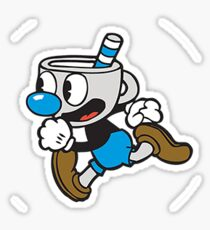 Cuphead - Mugman Running Sticker
