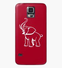 Funda/vinilo para Samsung Galaxy Delta Elephant Sigma Red Theta 2