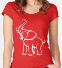 Delta Elefant Sigma Rot Theta 2 Tailliertes Rundhals-Shirt