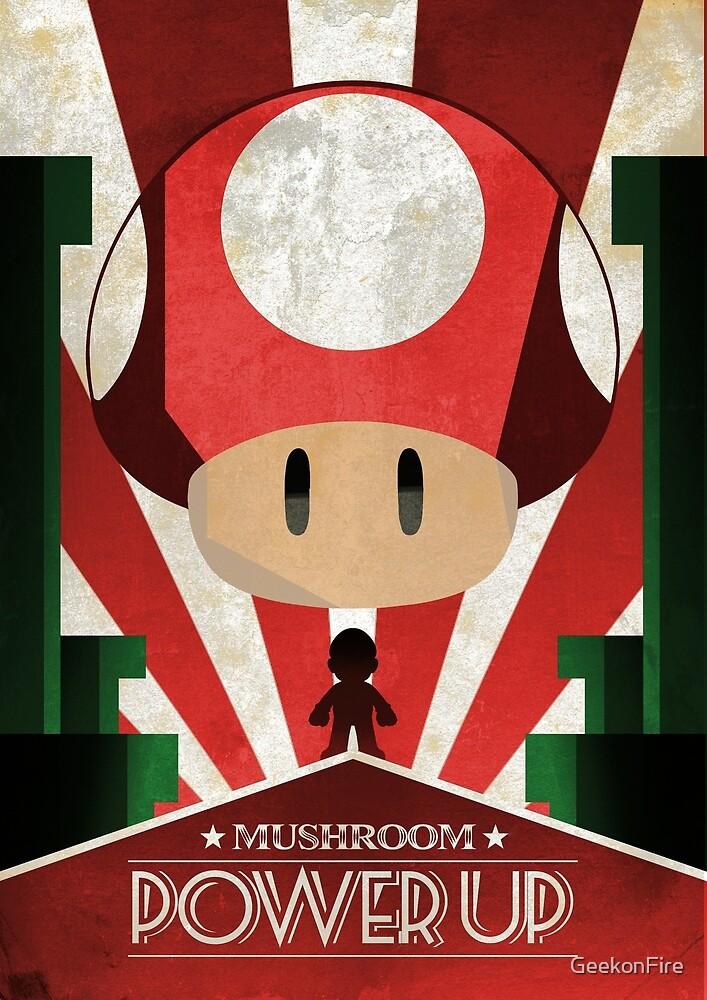Mario Mushroom - Art Deco by GeekonFire