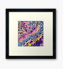 Summer zigzags Framed Print