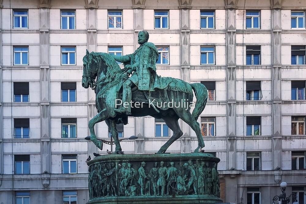 Prince Mihailo Monument by Peter Kurdulija