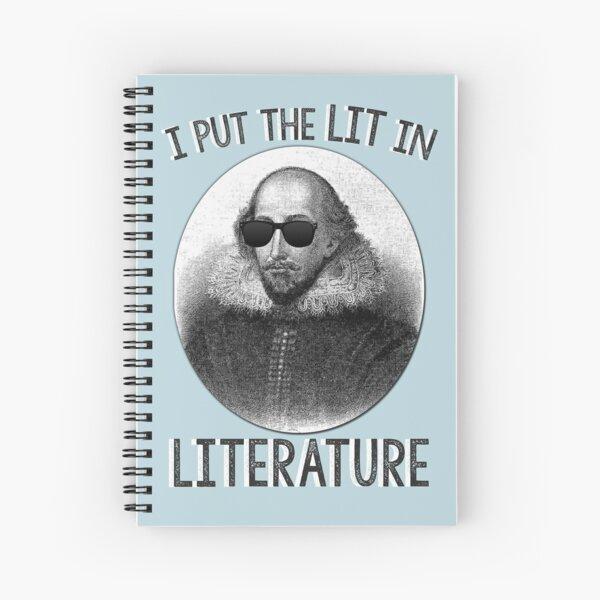I Put The LIT In Literature. Spiral Notebook