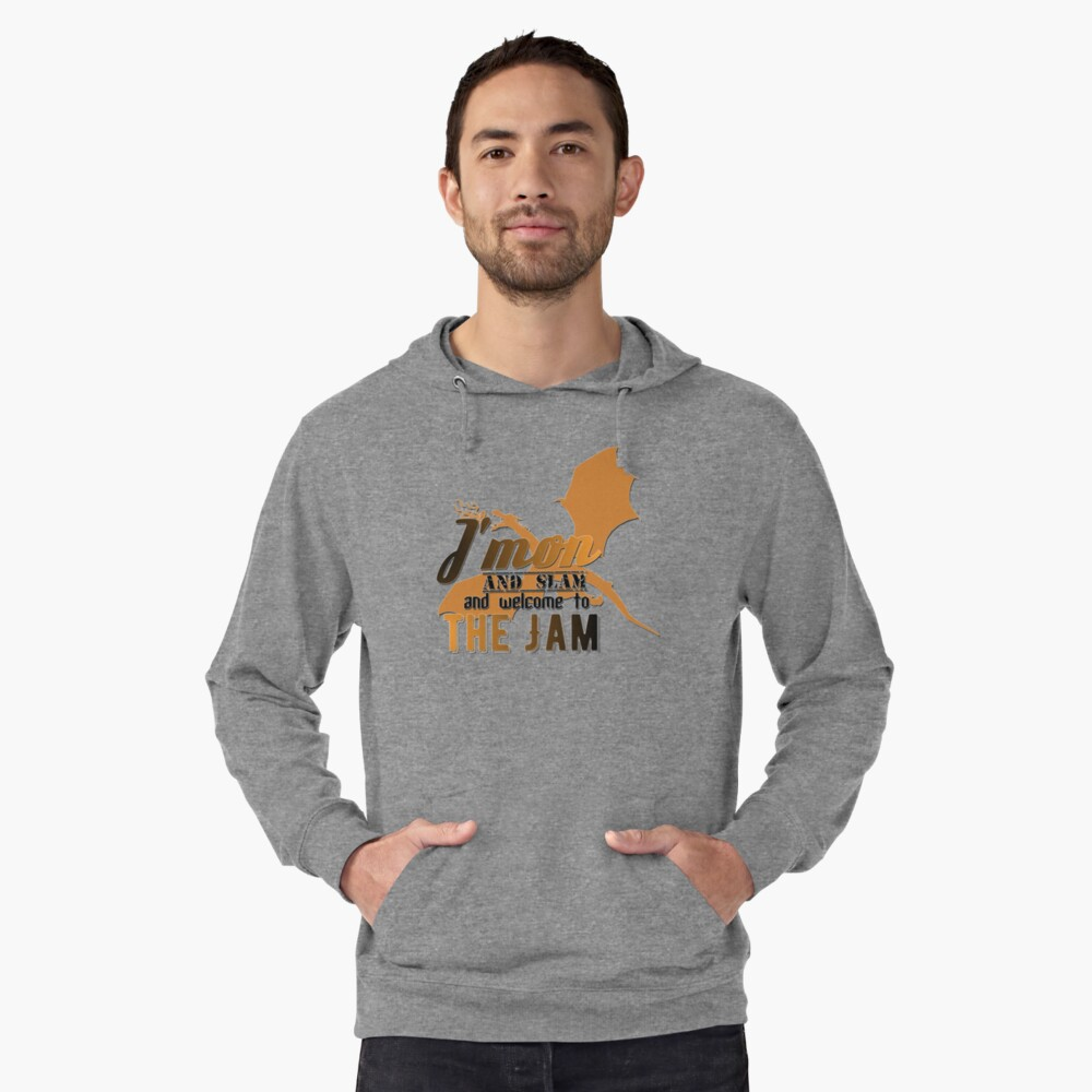J'mon and slam Lightweight Hoodie Front